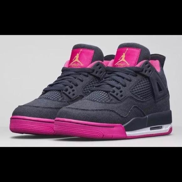da1c112547bf97 Nike Air Jordan 4 Retro Denim Pink woman s 8.5. M 5b549cd3800dee1a195b27ee